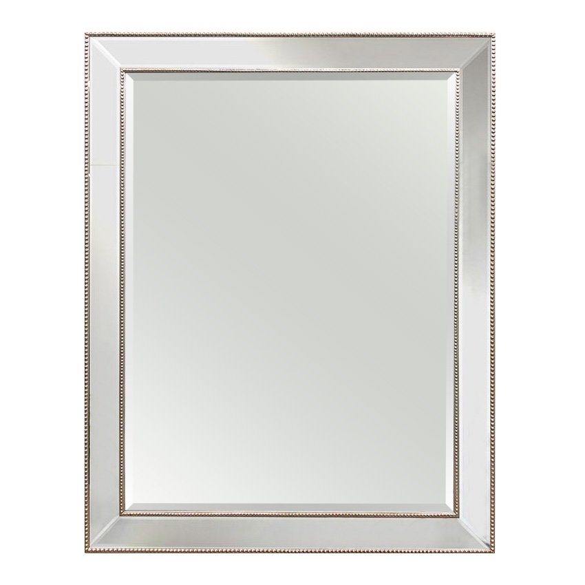 Large Silver Beaded Mirror 140cm X 110cm Luxe Mirrors