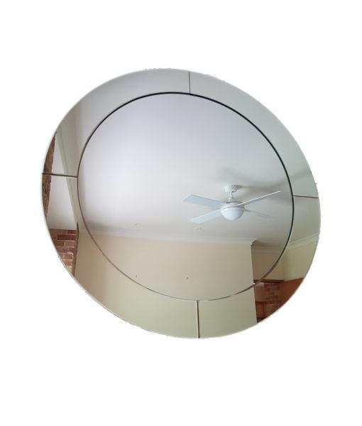 Jasmine Art Deco Round Mirror