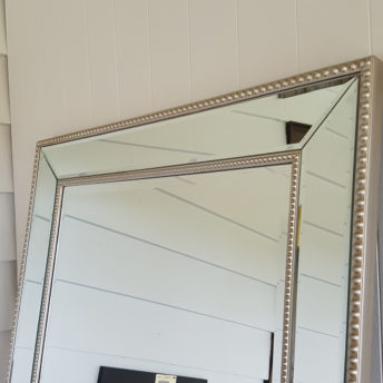 Silver Bead Mirror Top