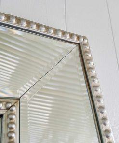 Silver Bead Mirror Detail