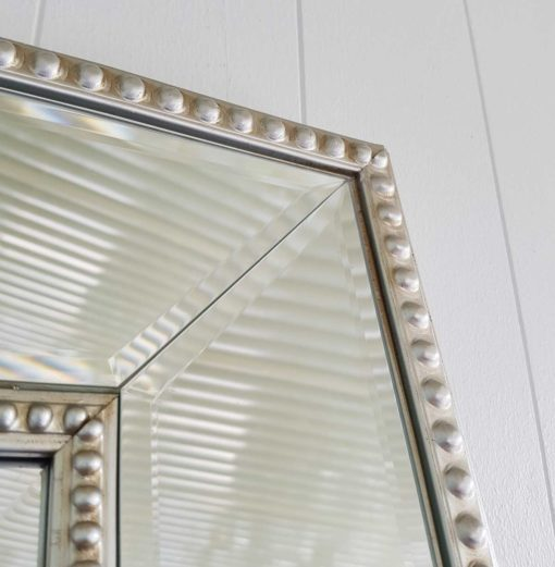 Silver Bead Mirror Detail