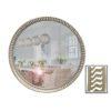 Lux Silver Round Mirror