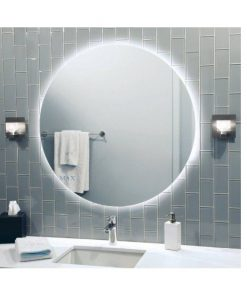 Rear Soft Glow Backlit Illuminated LED Mirror Round
