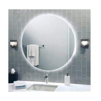 Rear Soft Glow Backlit Illuminated LED Mirror Round