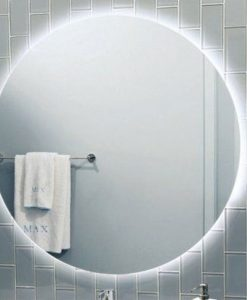 Round Backlit Mirror