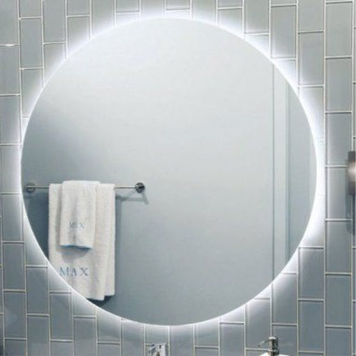 Rear Soft Glow Led Backlit Round Bathroom Mirror Luxe