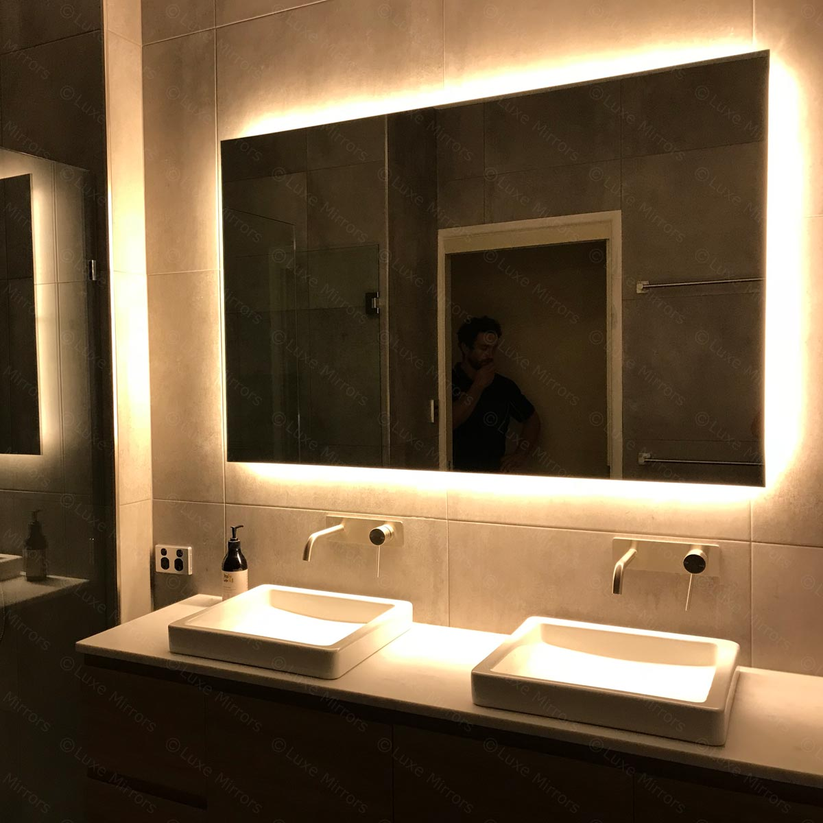 Backlit Bathroom Mirror with LED light | Luxe Mirrors