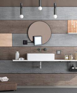 Black Square ShavingMake Up Mirror LED Light 3x Magnification