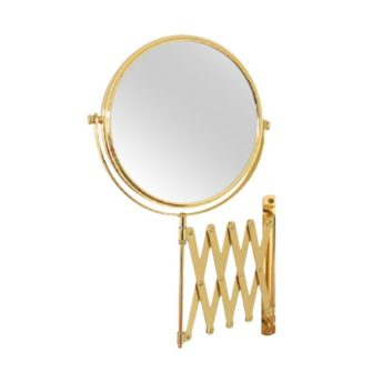 Wall Mounted Gold ShavingMake Up Mirror 4x Magnification