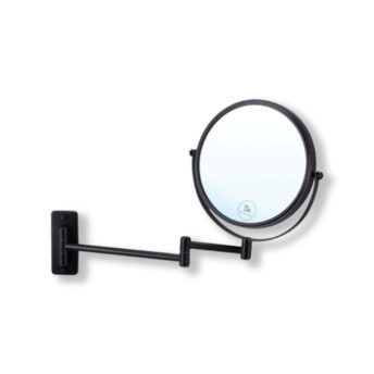 Wall-Mounted-Black-Round-Shaving-Make-Up-Mirror-5x-Magnification-20cm