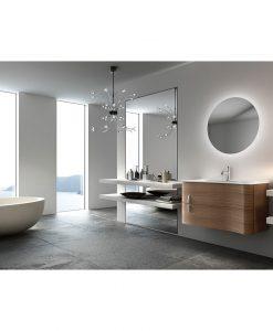 Rear Soft Glow Backlit LED Bathroom Mirror Round 60cm or 90cm