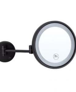 Black Round LED Make Up Mirror
