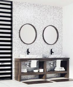 Milan Round Black Frame Mirror
