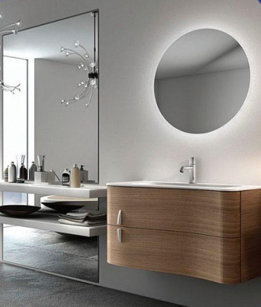 Rear Soft Glow Led Backlit Illuminated Round Bathroom Wall Mirror 60cm And 90cm Ebay