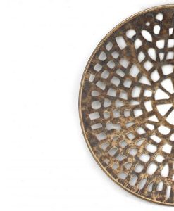 Round Cut Out Copper Wall Decor
