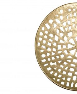 Round Cut Out Gold Wall Decor 35cm