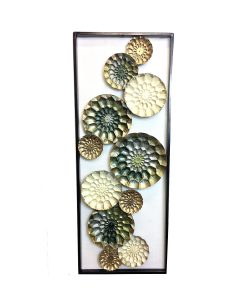 Jasper Flower Framed Wall Sculpture 90cm x 35cm