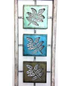 Framed Summer Leaves Metal Wall Art