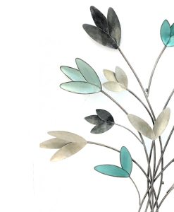 Langley Metallic Flower Wall Art 83cm
