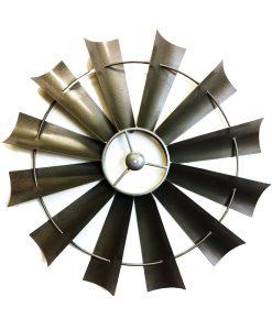 Windmill Metal Wall Art 67cm