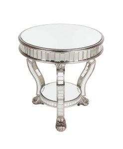 Pearson Side Table - Antique Silver 62cm D x 63cm H