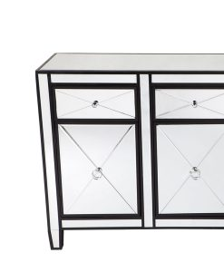 Apolo Black Mirrored Buffet 129cm