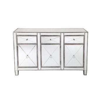 Apolo Antique Silver Mirrored Buffet 129cm