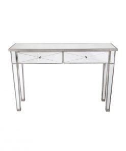 Apolo Antique Silver Mirrored Console Table