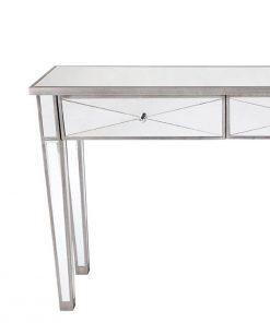 Apolo Antique Silver Mirrored Console Table