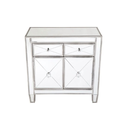 Apolo Antique Silver Mirrored Cabinet