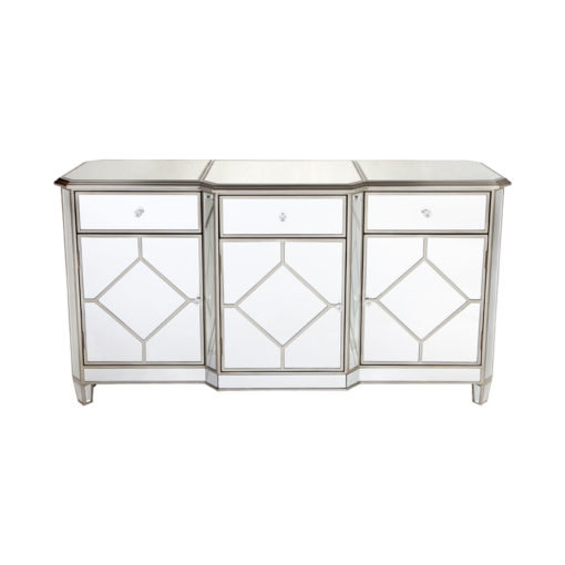 Kensington Buffet Cabinet - Antique Gold 160cm L x 50cm W x 85cm H