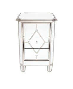 Kensington Bedside Table - Antique Gold 45.5cm L x 40cm W x 67cm H