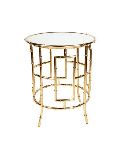 Loft Side Table - Gold 55cm Dia x 65cm H