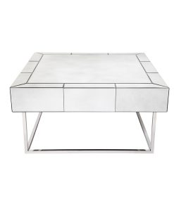 Hudson Coffee Table - Chrome 90cm L x 90cm W x 45cm H
