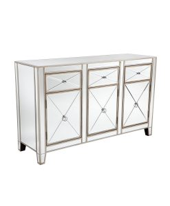 Apolo Antique Gold Mirrored Buffet