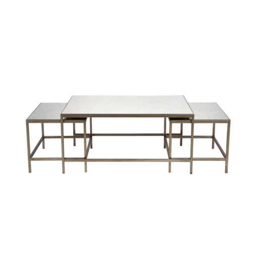 Cocktail Coffee Table - Antique 3pc 112cm L x 71cm W x 46cm H