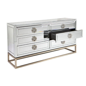 Jester Antique Mirror Drawer Chest 150cm