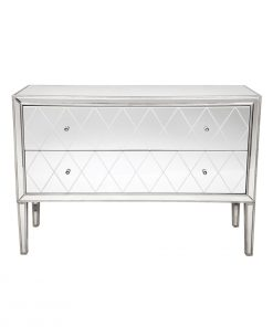 Krystal Chest Antique Silver 126cm L x 42cm W x 88cm H