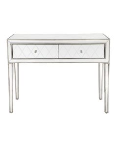 Krystal Console Table Antique Silver 102cm L x 38cm W x 80cm H