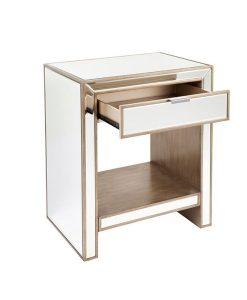 Sabrina Bedside Table 60cm L x 43cm W x 72cm H