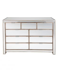 Sabrina Chest -Antique Gold 132cm L x 56cm W x 92cm H