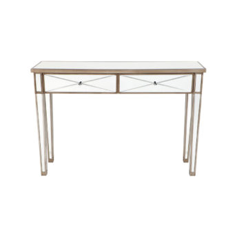 Apolo Antique Gold Mirrored Console Table