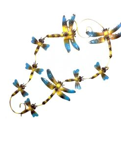 Cluster Dragonfly Metal Wall Hanging 84cm