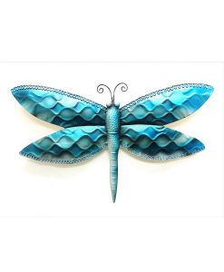 Blue Dragonfly Metal Wall Art 56cm