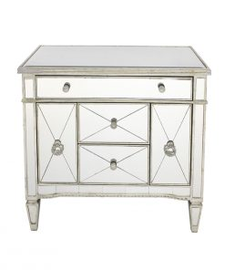 Antique Mirrored Dresser Nightstand 92 x 48 x 87cm
