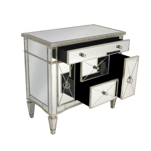 Antique Mirrored Dresser Nightstand 92 x 48 x 87cm