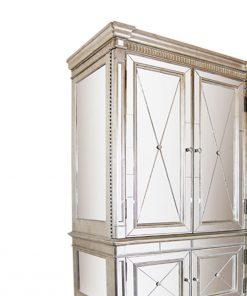 Antique Mirror Armoire / Dresser/ Television Cabinet 137cm x 76cm x 221cm