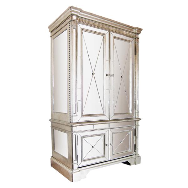 Antique Mirror Armoire Dresser Television Cabinet