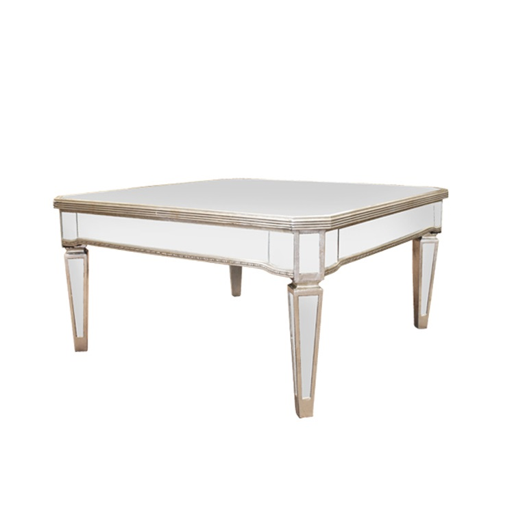 Antique Square Mirrored Coffee Table