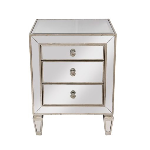 Antique Mirrored Bedside